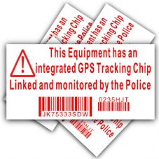 5 x Equipment Security Stickers-Fake Dummy GPS Police Tracking Sign-Television,TV,DVD Player,Computer,Printer